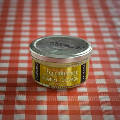 Rillettes de dorade aux olives vertes