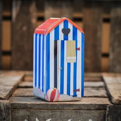 Cabine de plage de sablés caramel