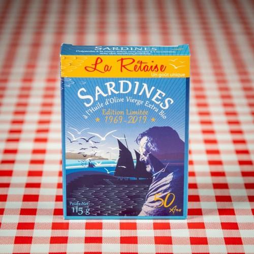 """Boite de sardines à l'huile """"La Rétaise"""""""
